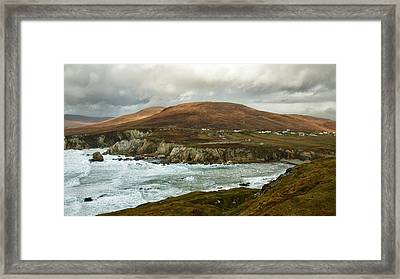 Framed Print featuring the photograph A Stormy Day On Achill Island by Trever Miller