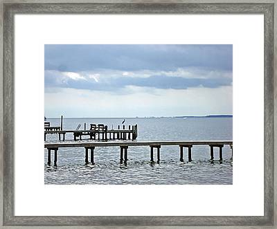 A Stormy Day On The Pamlico River Framed Print