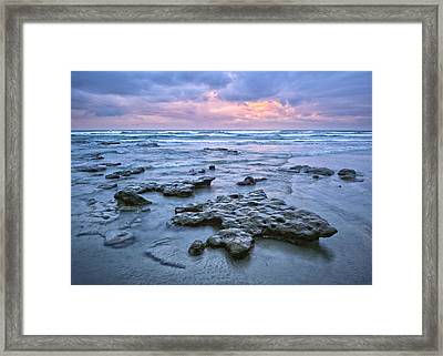 A Stormy Sunset Framed Print