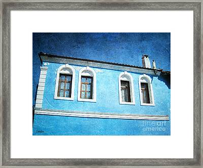 A Story In Blue Framed Print
