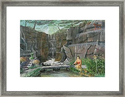 A Stream Of Gentle Thoughts Framed Print