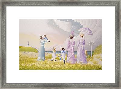 A Stroll On The Dunes Framed Print by Peter Szumowski