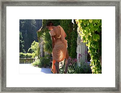 A Stroll On The Terrace Framed Print by Waywardimages Waywardimages