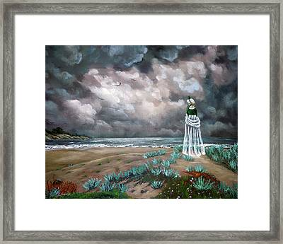 A Stroll Upon The Dunes Framed Print by Laura Iverson
