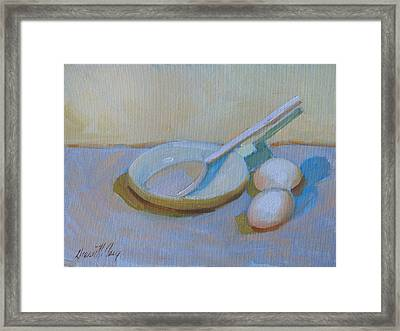 A Study In White Framed Print by Diane McClary