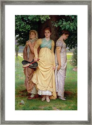 A Summer Shower Framed Print by Charles Edward Perugini