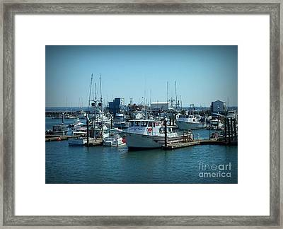 A Sunny Nautical Day Framed Print by Chalet Roome-Rigdon