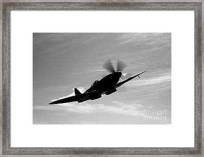 A Supermarine Spitfire Mk-18 In Flight Framed Print by Scott Germain