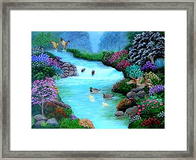 Framed Print featuring the painting A Taste Of Heaven by Fram Cama