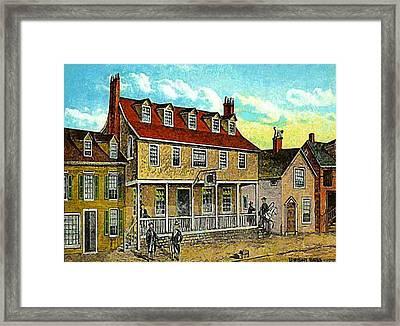 A Tavern In Philadelphia Pa Framed Print by Dwight Goss