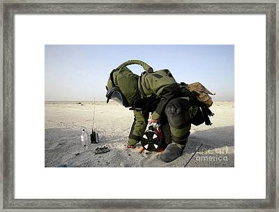 A Technician Dressed In A Eod-8 Framed Print