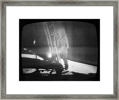 A Televised View Of The Apollo 11 Framed Print by Rex A. Stucky