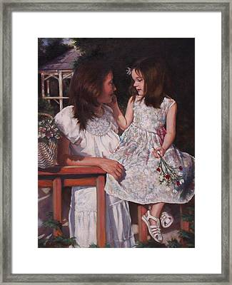Framed Print featuring the painting A Tender Touch by Harvie Brown
