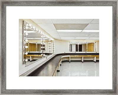 A Theater Dressing Room Framed Print by Greg Stechishin