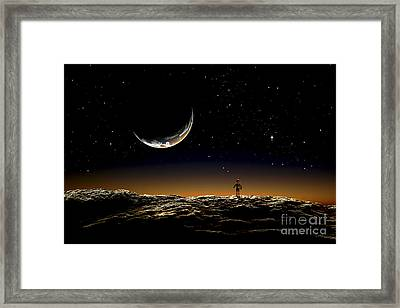 A Thin Veil Of Gaseous Material Framed Print