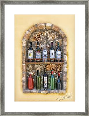 A Toast To Olympia Framed Print by Sandra Bronstein