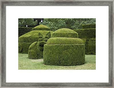 A Topiary Garden At Longwood Gardens Framed Print by Scott S. Warren