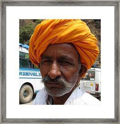 A Tourist Framed Print by Anand Swaroop Manchiraju