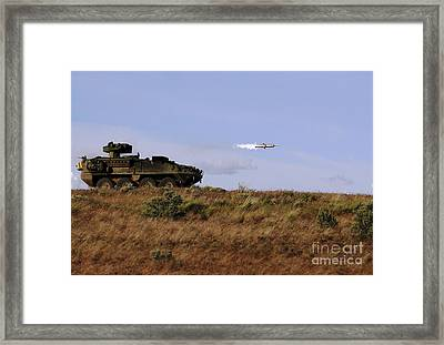 A Tow Missile Is Launched From An Framed Print