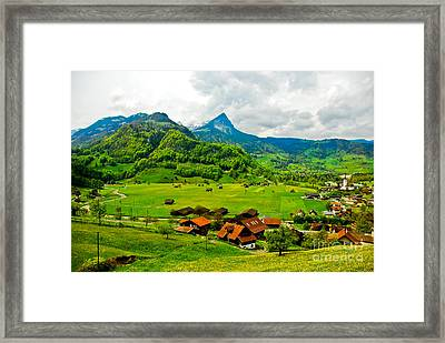 A Town On The Way Framed Print by Syed Aqueel