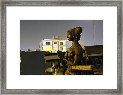 A Trashed Sculpture Framed Print by Sumit Mehndiratta