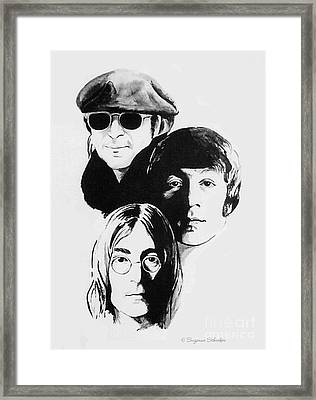A Tribute To Lennon Framed Print by Suzanne Schaefer