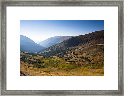 A Tundra Valley In The Colorado Rockies Framed Print by Ellie Teramoto
