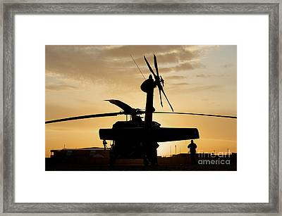 A Uh-60l Black Hawk Helicopter Framed Print by Terry Moore