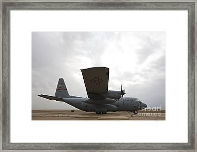 A U.s. Air Force C-130 Hercules Framed Print by Terry Moore