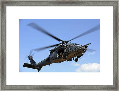 A U.s. Air Force Hh-60 Pavehawk Comes Framed Print by Stocktrek Images