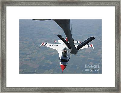 A U.s. Air Force Thunderbird Pilot Framed Print by Stocktrek Images