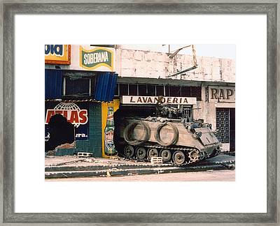 A U.s. Army Armored Personnel Carrier Framed Print by Everett