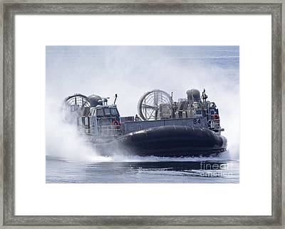 A U.s. Marine Corps Landing Craft Air Framed Print by Stocktrek Images