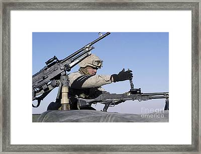 A U.s. Marine Corps Troop Loads Framed Print by Stocktrek Images