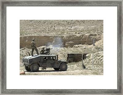 A U.s. Marine Fires A Mark 19-3 40mm Framed Print by Stocktrek Images