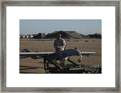 A U.s. Marine Prepares To Launch An Framed Print by Stocktrek Images