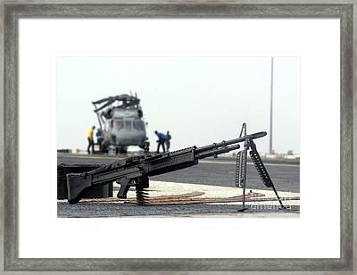 A U.s. Navy Saco 7.62 Mm M60 Machine Framed Print by Stocktrek Images