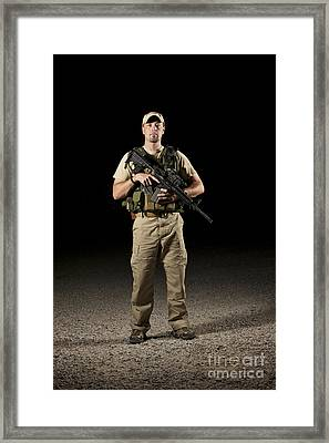 A U.s. Police Officer Contractor Framed Print