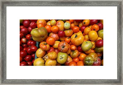 A Variety Of Fresh Tomatoes - 5d17812-long Framed Print by Wingsdomain Art and Photography