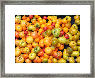 A Variety Of Fresh Tomatoes - 5d17904 Framed Print by Wingsdomain Art and Photography
