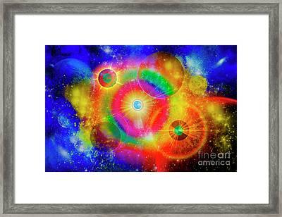 A Vast Gaseous Nebula Illuminated Framed Print by Mark Stevenson