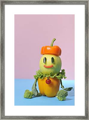 A Vegetable Doll Framed Print by Yagi Studio