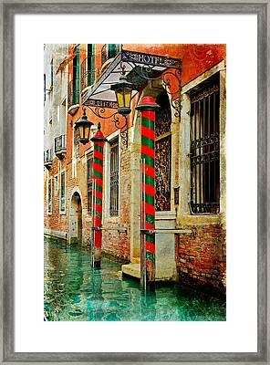 A Venetian Hotel Framed Print
