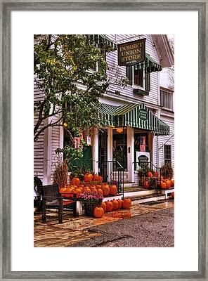 A Vermont Classic - Dorset Union Country Store Framed Print by Thomas Schoeller