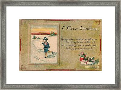 A Very Merry Christmas Framed Print by Angela Wright