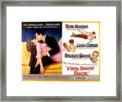 A Very Special Favor, Leslie Caron Framed Print