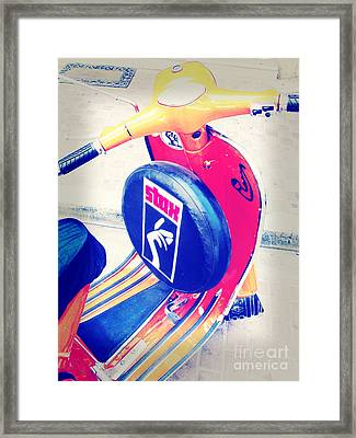 A Vespa With Style Framed Print by Steve Outram