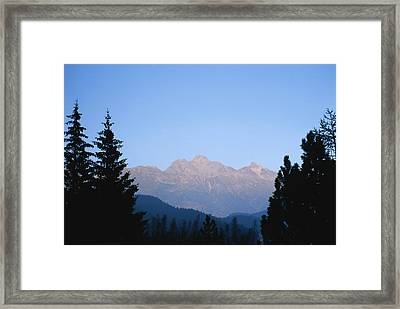 A View At Sunset Of The Piz Muragl Framed Print by Taylor S. Kennedy