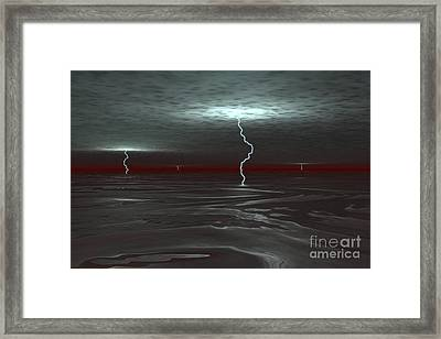 A View Below The Gas Clouds Of Jupiters Framed Print