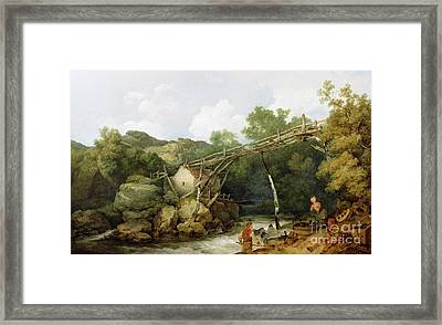 A View Near Matlock Framed Print by Philip James Loutherbourg